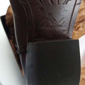 3f469f8848a Patricia Nash Bergamo Boots Whiskey Leather 9.5M Boutique
